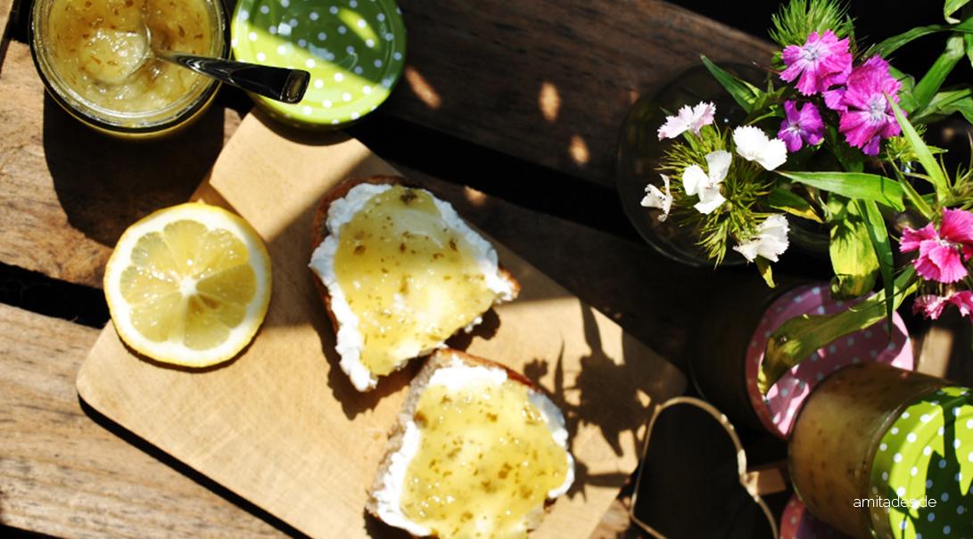 Ananas-Basilikum und Apfel-Birnen-Fruchtaufstrich