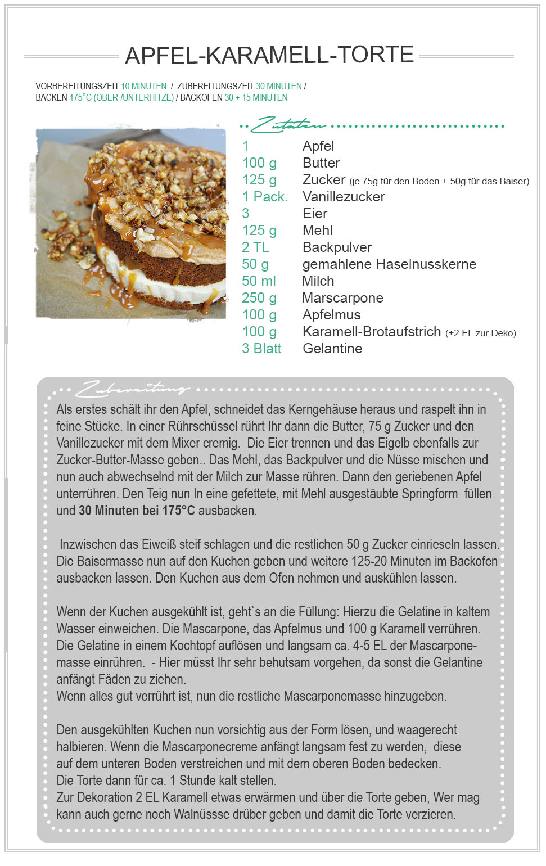 amitades.Blog | Apfel-Karamell-Torte Rezept