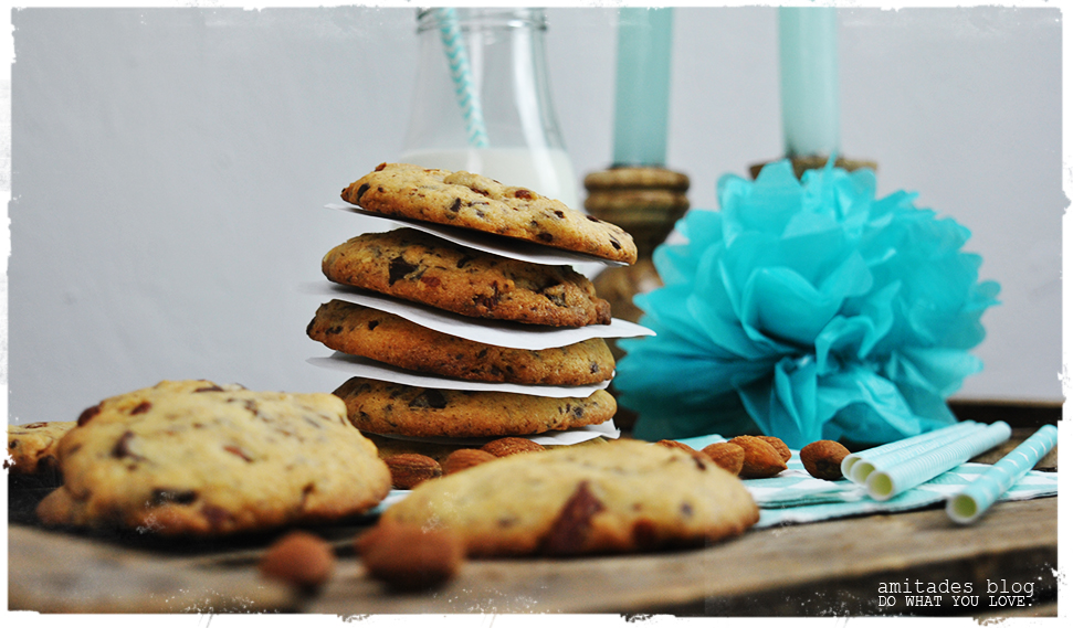 amitades.Blog | Schokoladen-Salzmandel-Cookies