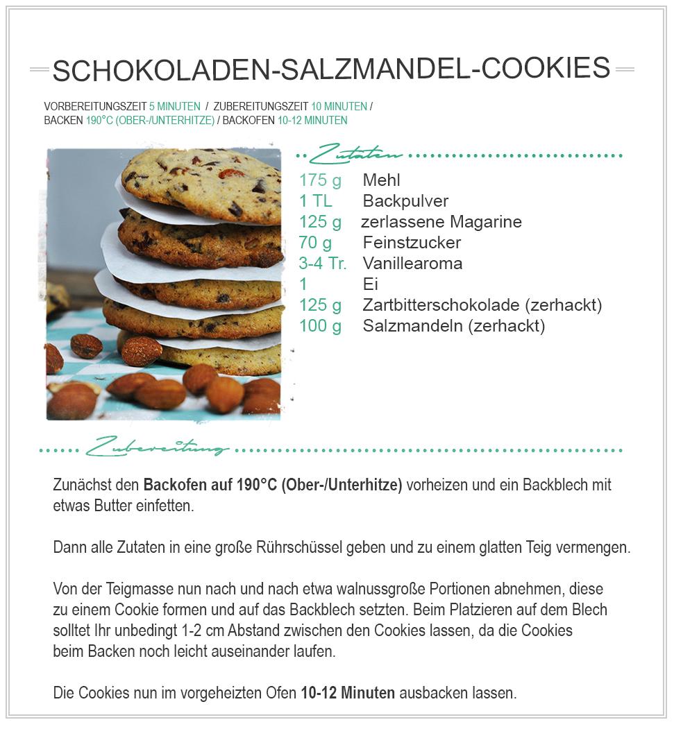 amitades.Blog | Rezept - Schokoladen-Salzmandel-Cookies