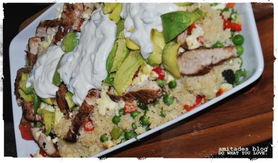 amitades.Blog| Gemüse-Couscous mit Hähnchen