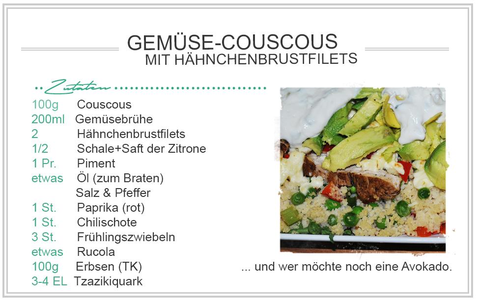 amitades.Blog| Zutaten - Gemüse-Couscous mit Hähnchen