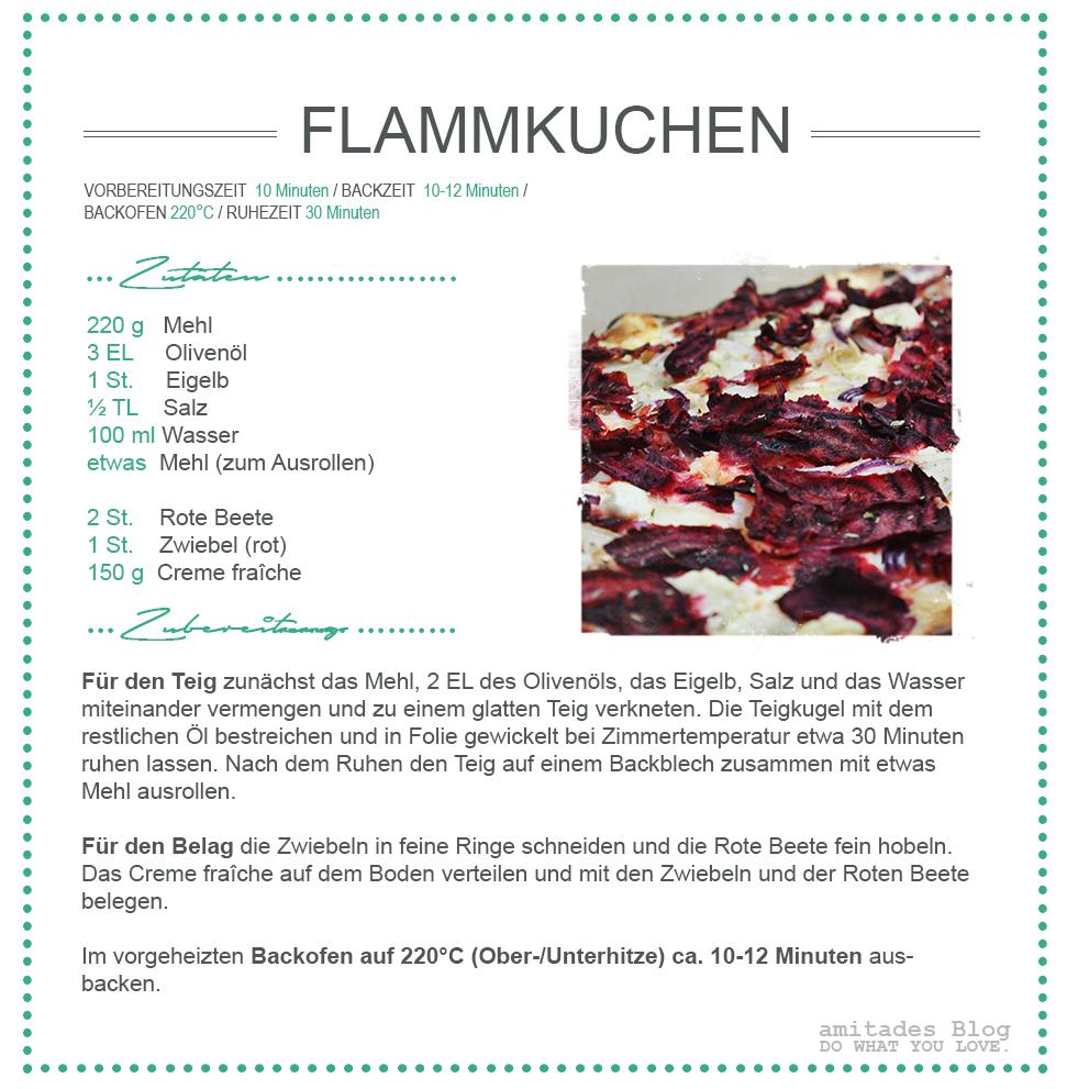 amitades.Blog | Rezept Rote-Beete-Flammkuchen
