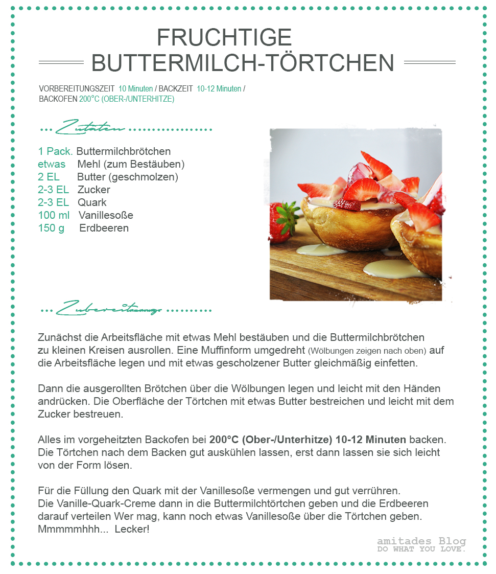 amitades.Blog | REZEPT fruchtiges Buttermilch-Törtchen
