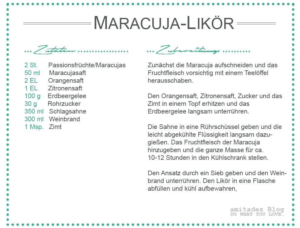 amitades.blog | Rezept Maracuja-Schnaps