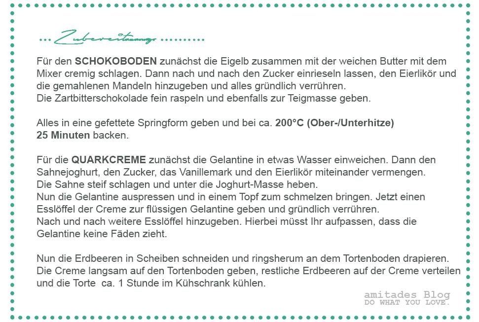 amitades.Blog | Rezept Erdbeertorte mit Schokoladenboden und Quarkcreme