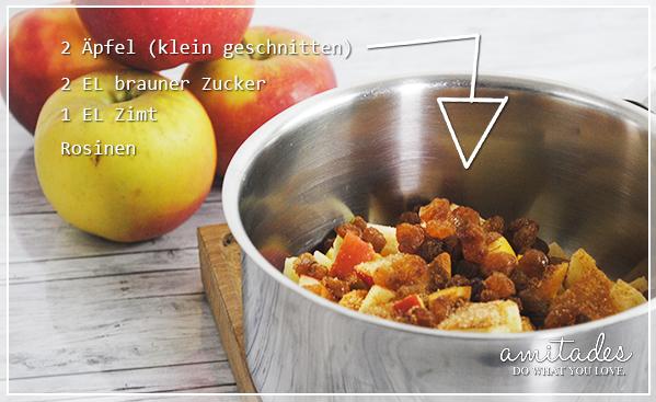 amitades.Blog | Apfel-Quark-Taschen