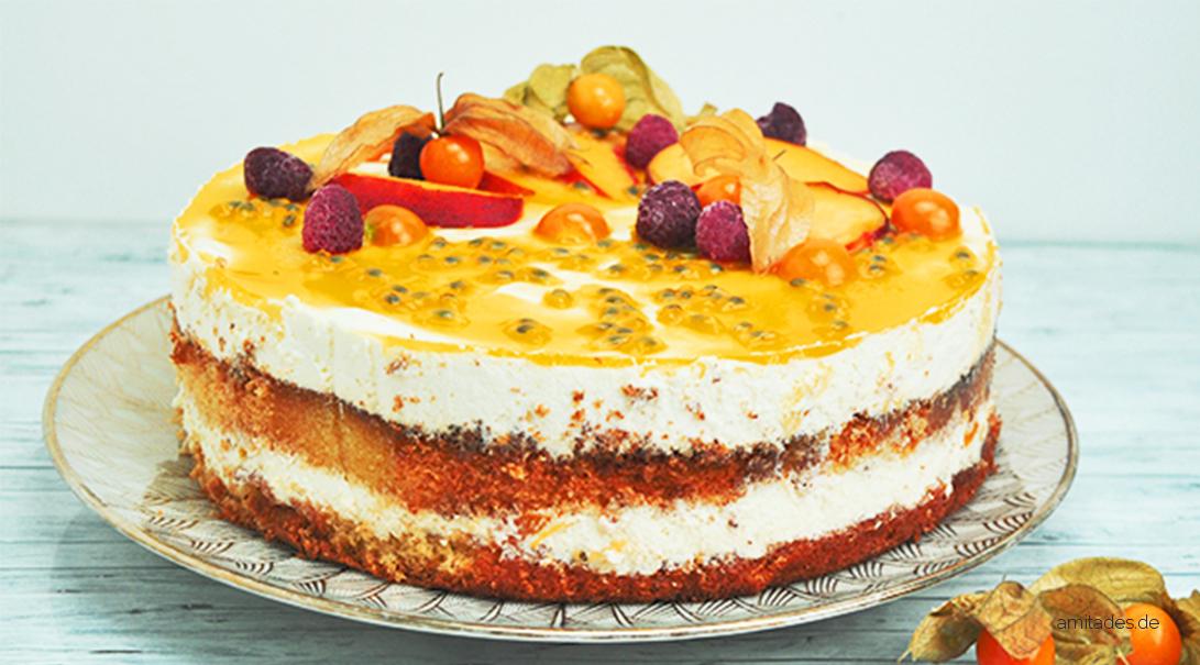 Maracuja-Split-Torte