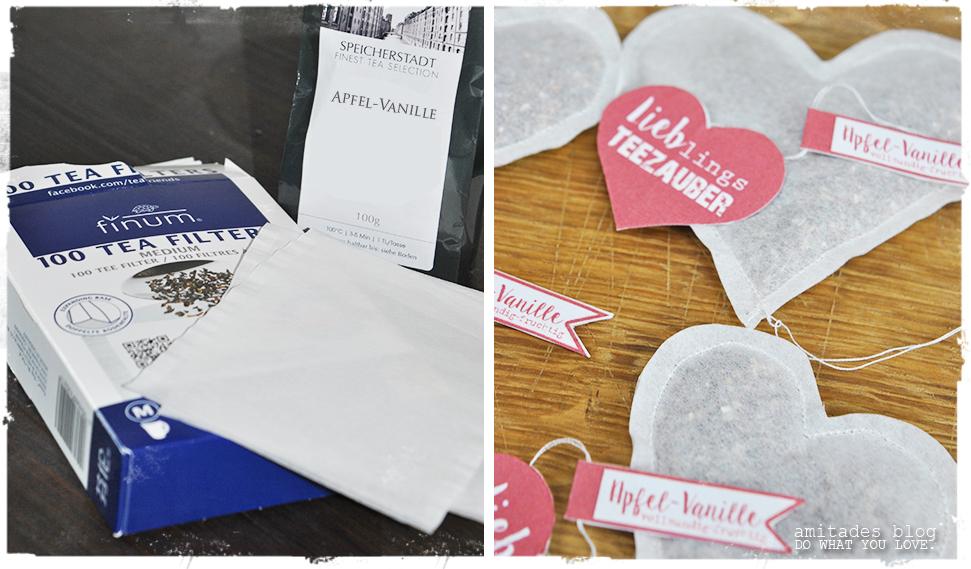 amitades.Blog | Teeherzen zum Valentinstag