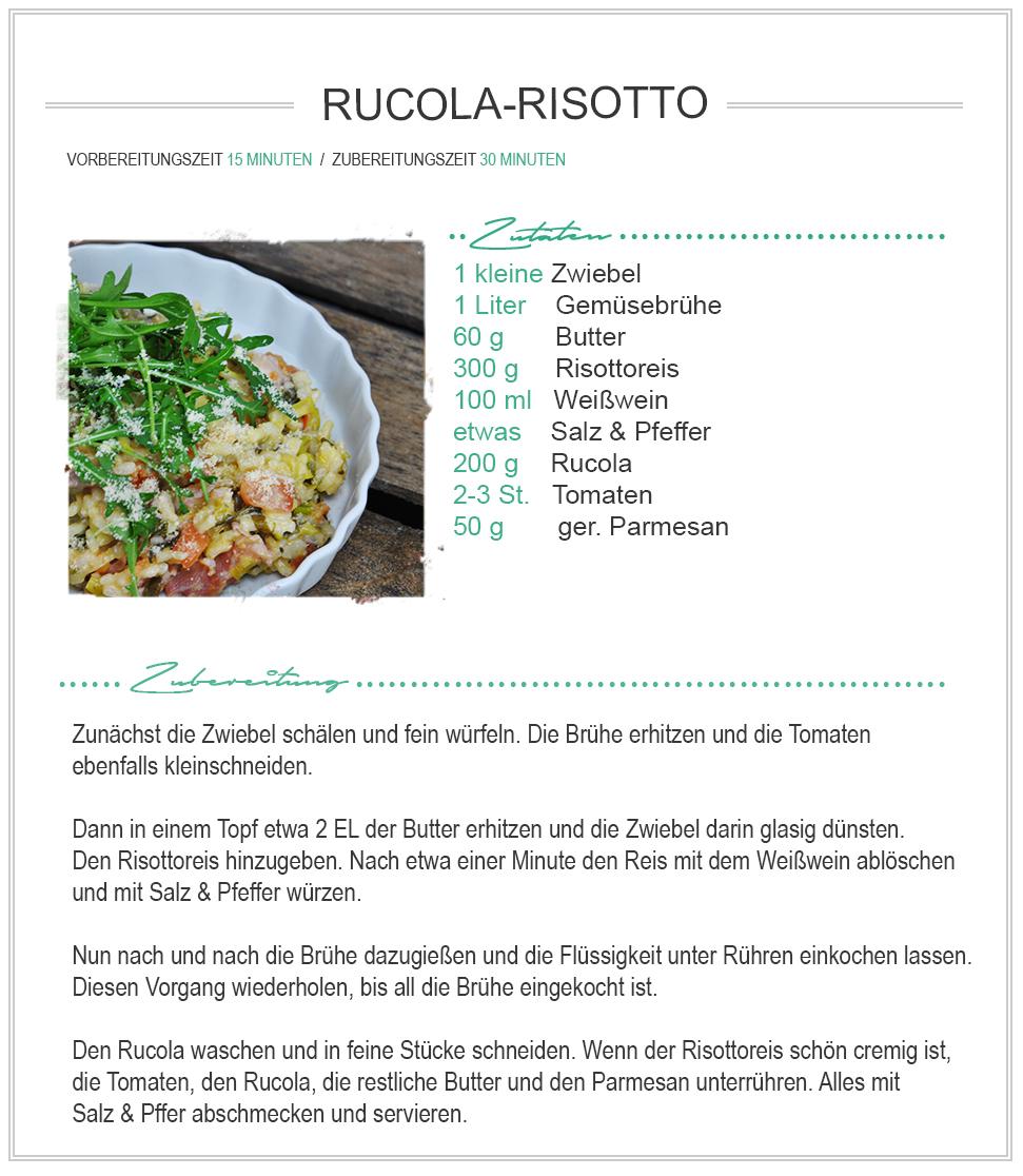 amitades.Blog | Rezept Rucola-Risotto