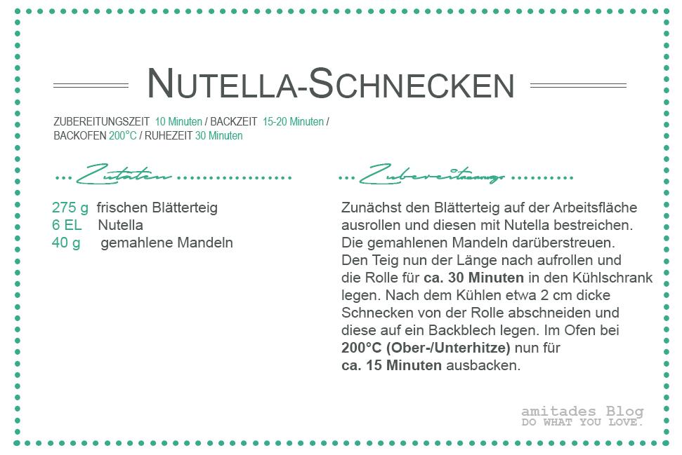 amitades.blog | Rezept Nutella-Schnecken