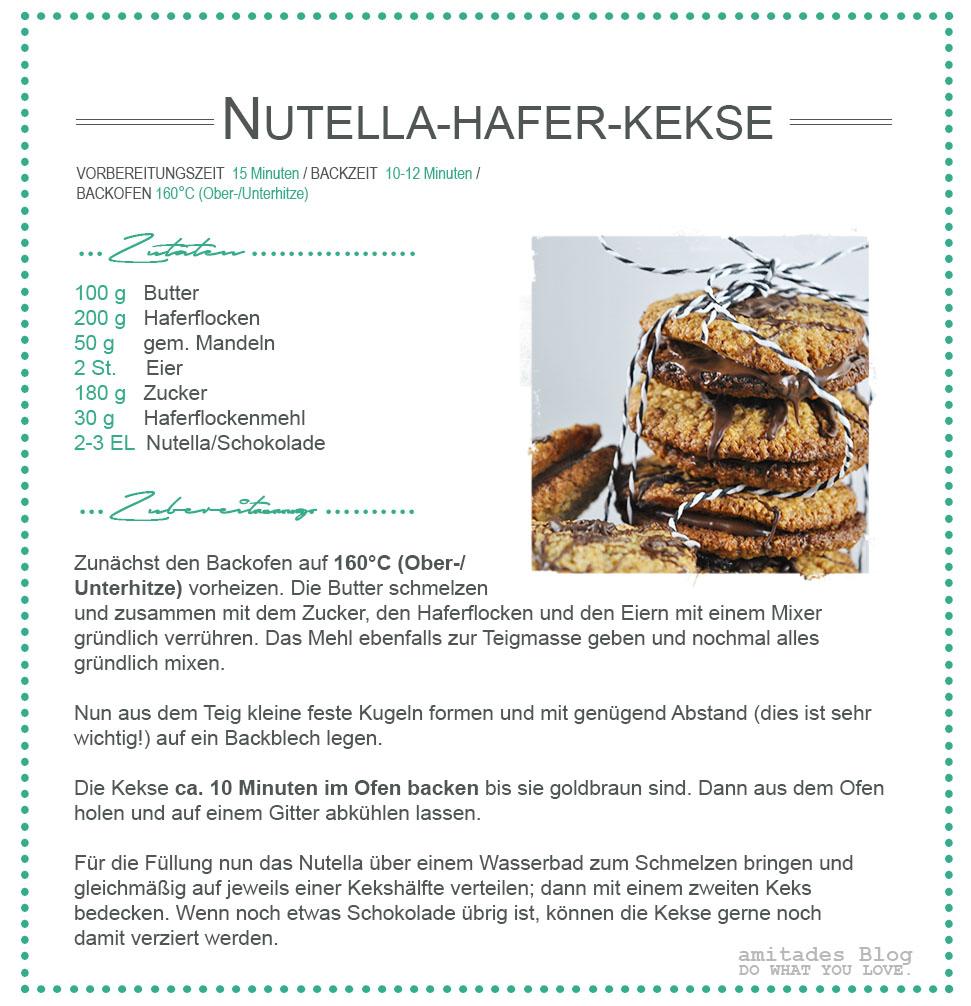 amitades.Blog | Rezept Nutella-Hafer-Kekse