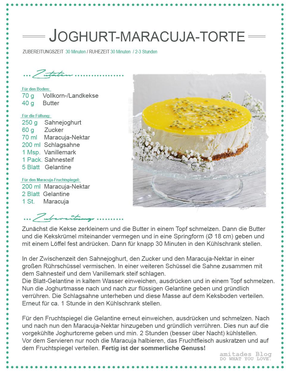 amitades.Blog | Rezept Joghurt-Maracuja-Torte