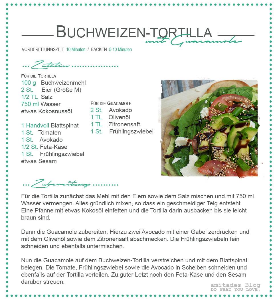 amitades.Blog | Buchweizen-Tortilla Rezept