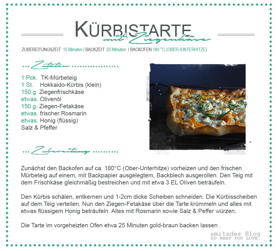 amitades.Blog | Kürbistarte mit Ziegenkäse Rezept