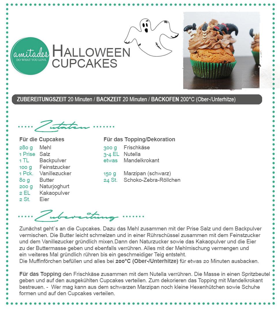 amitades.Blog | REZEPT verhexte Halloween-Cupcakes